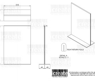 ICRS - 18258 R1 ACRYLIC SIGN HOLDER (A4)