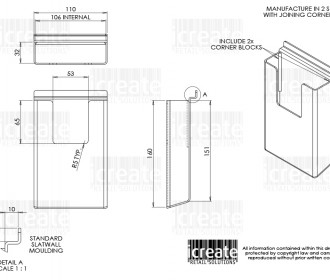ICRS - 18199 SLATWALL BROCHURE HOLDER (TRI FOLD) APPROVED